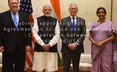 Cabinet approves proposal for Agreement on Science and Technology Cooperation between India and USA