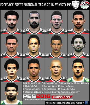 PES 2016 FACEPACK EGYPT NATIONAL TEAM 2016 BY MIZO 199