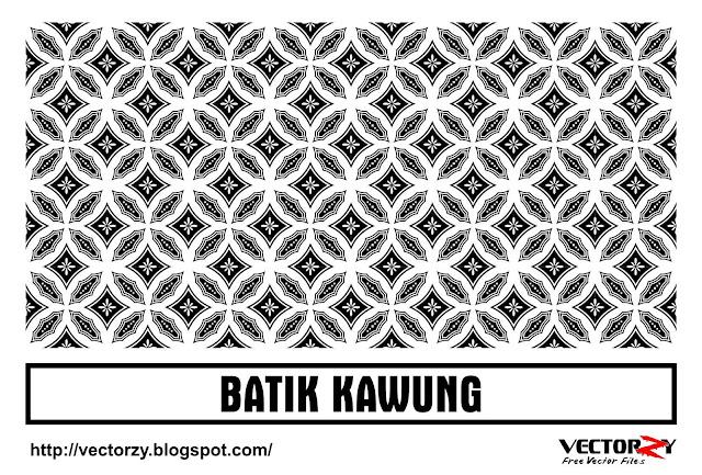 Download Batik Kawung Vector