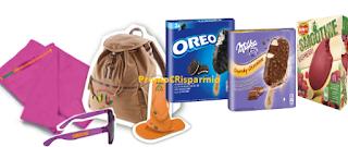 Logo Concorso ''Scopri il gusto dell'estate'' e con Oreo, Milka e Del Monte vinci 57 kit