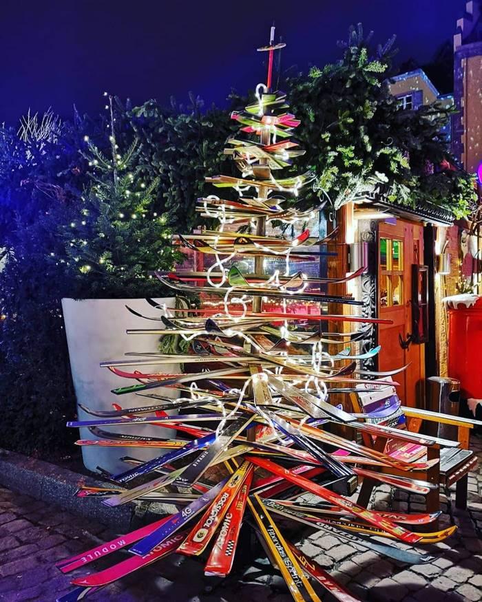 Ski Christmas tree