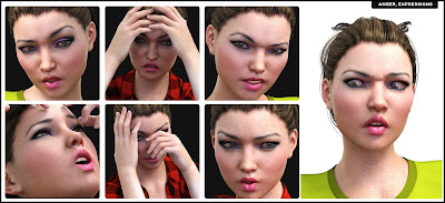 i13 Anger Disgust and Rage Poses and Expressions for Genesis 3 Female