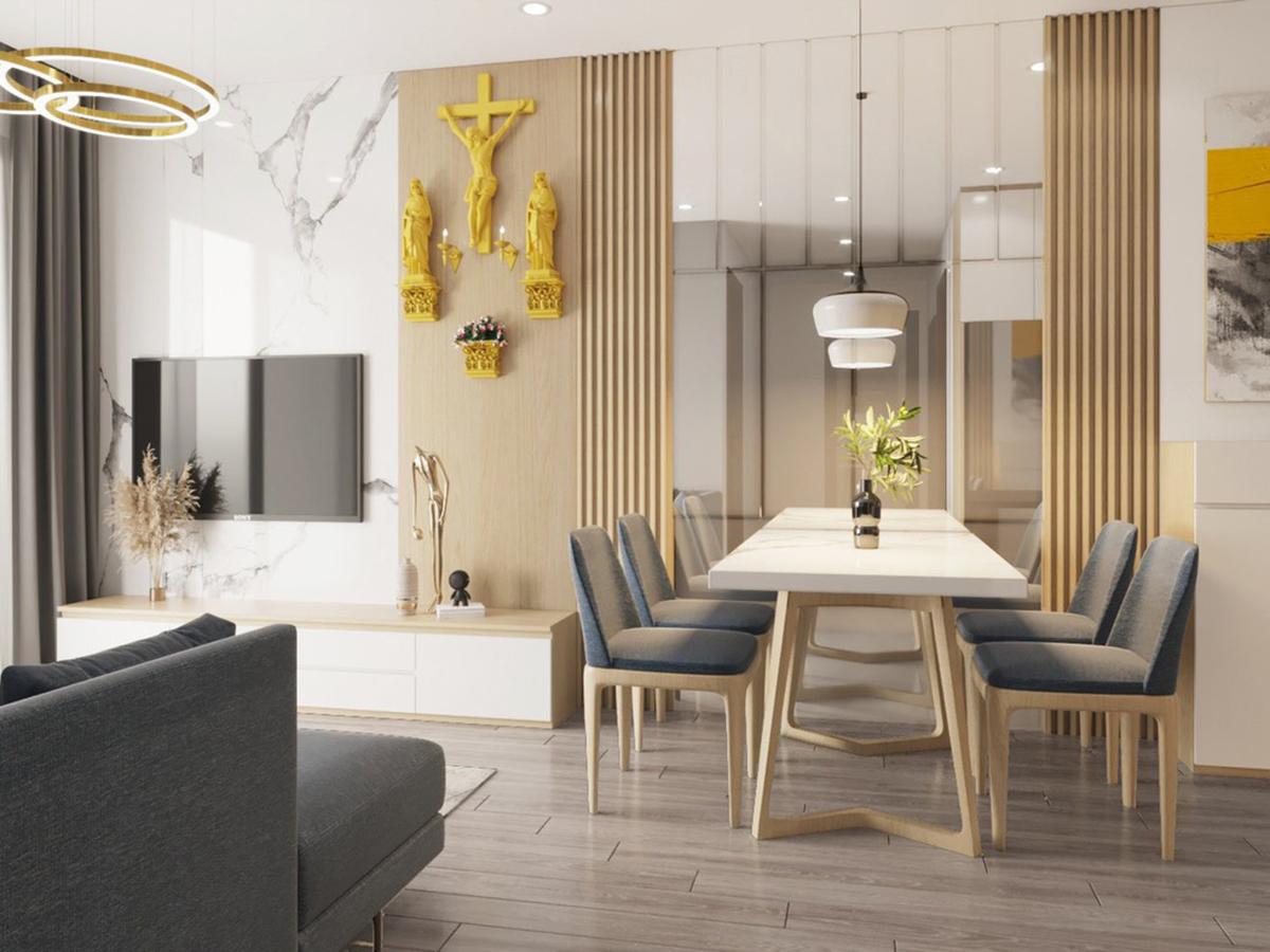 Thiết kế nội thất căn hộ 55m2 Vinhomes Smart City