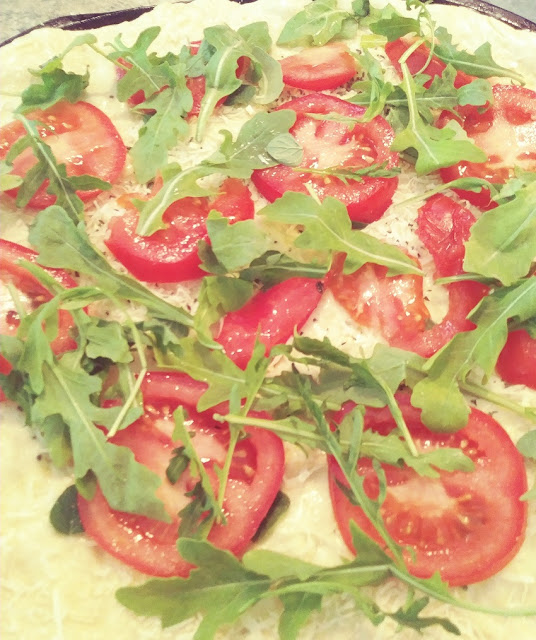 Arugula Tomato Pizza Recipe