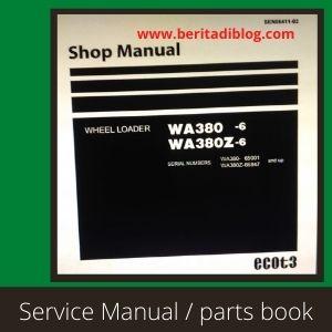 WA380-6 wa380-6Z shop manual wheel loader komatsu
