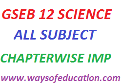 GSEB STD 12 SCIENCE ALL MAIN 4 SUBJECT IMP