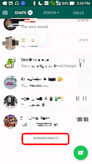 Scroll down to the bottom of your chat interface