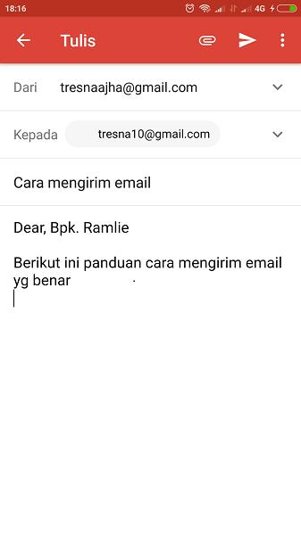 cara mengirim email lewat hp iphone