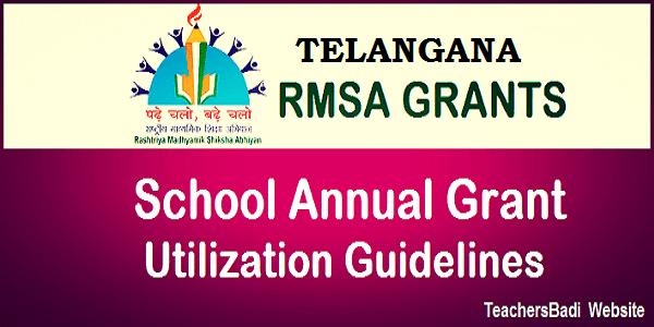 TSRMSA,School Annual Grants,Utilization Guidelines Instructions