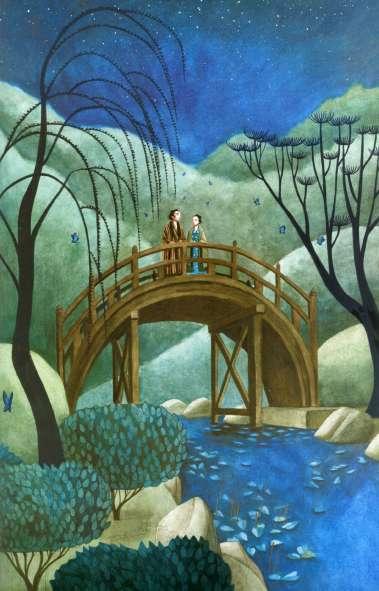 Ilustración de Los Amantes Mariposa, libro escrito e ilustrado por el artista francés Benjamin Lacombe
