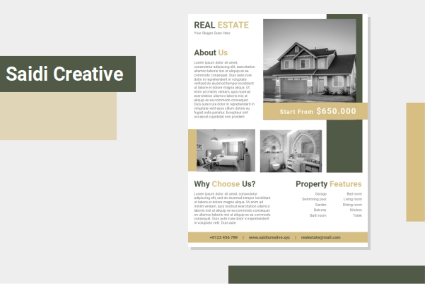 Free Real Estate Flyer Template Word Document Fully Editable File