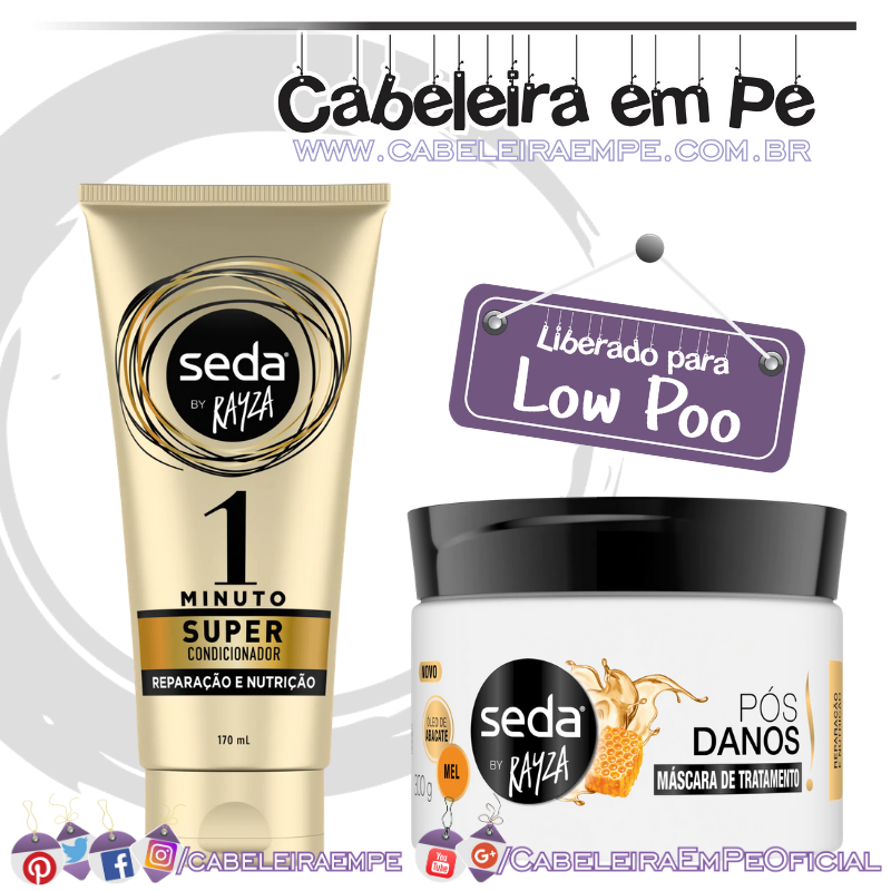 Super Condicionador e Máscara Pós-Danos by Rayza - Seda (Low Poo)