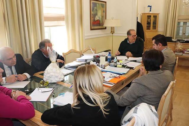 Σύσκεψη του Π. Νίκα με τους αντιπεριφερειάρχες για θέματα συντονισμού