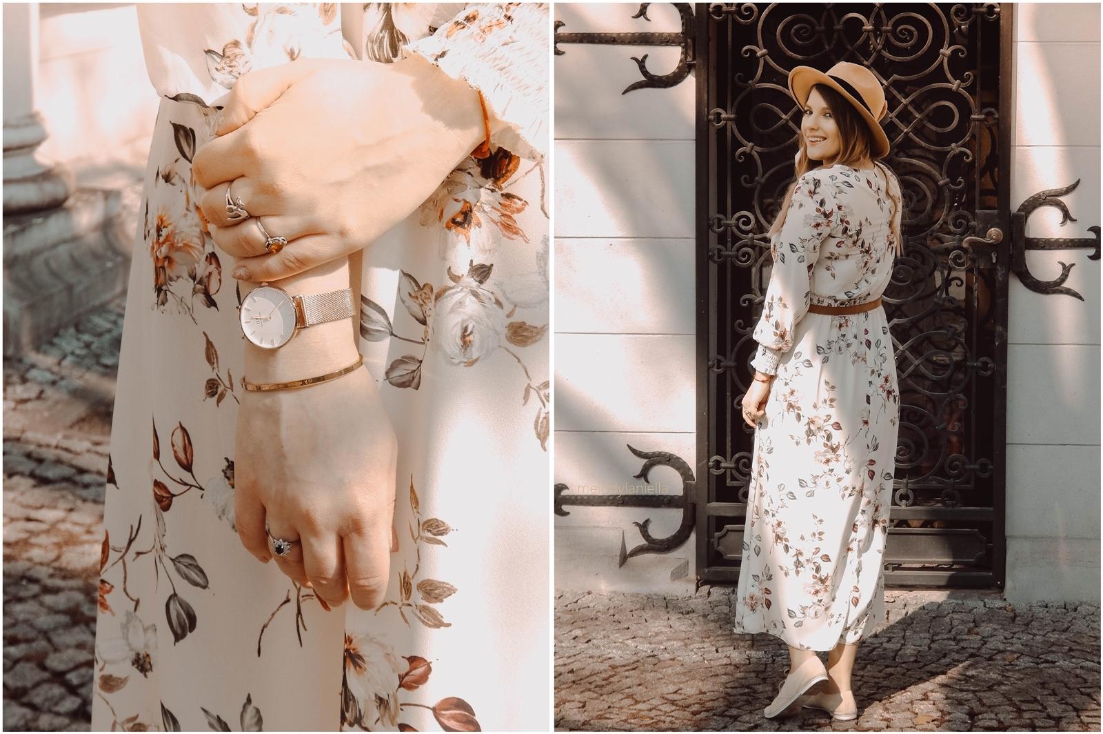 15 sukienka na wakacyjne wesele kwiaty boho róż trendy wiosna lato 2018 blogerzy blogerki styl outfit lookbook