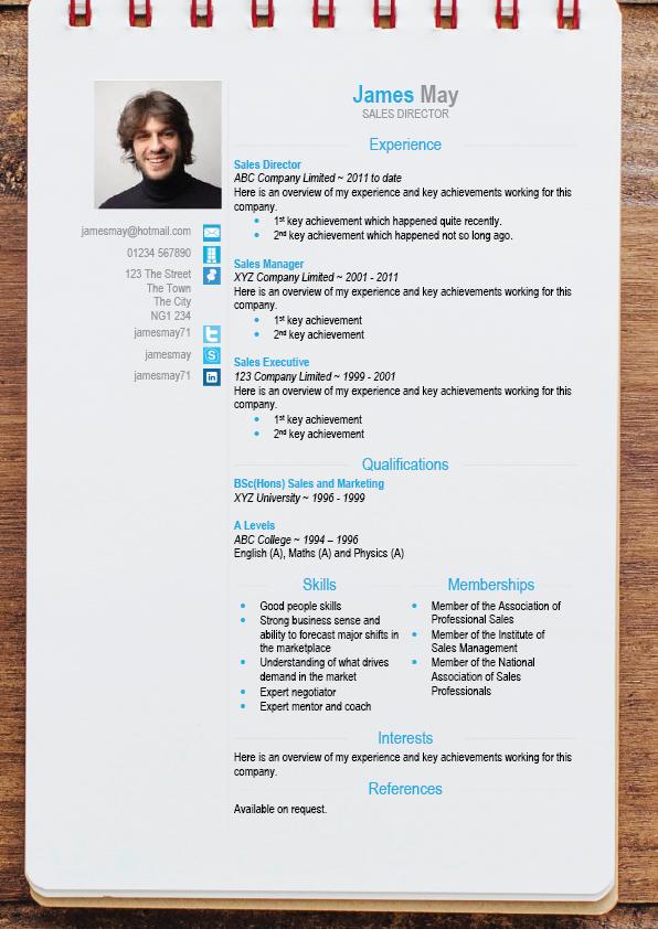 CV Moderne au format DOCX | Cours BTP
