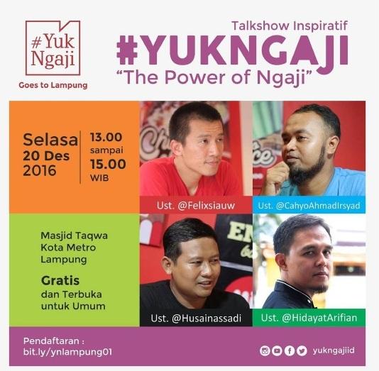 Talkshow Inspiratif YukNgaji di Lampung