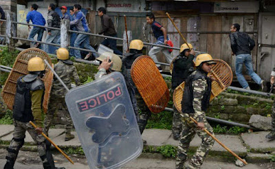 Police Lathicharge in Darjeeling