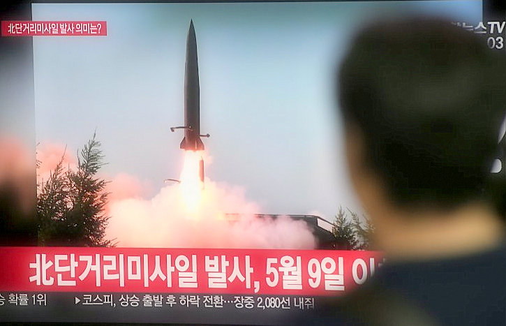 "Kim of North Korea says that missile launch is a warning for South Korea's ""warmongers"""