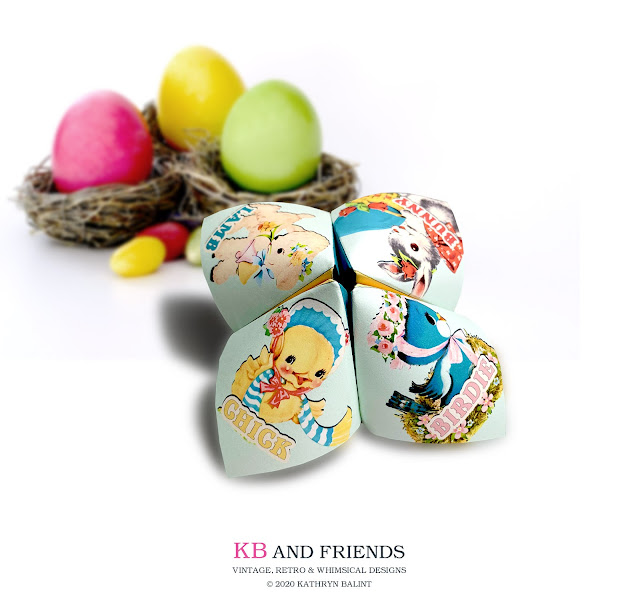 KB and Friends Easter Cootie Catcher