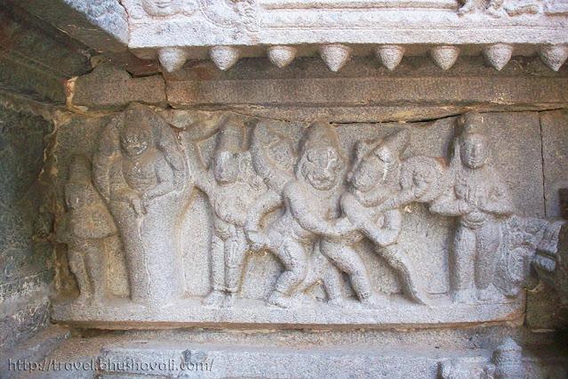 Sriperumbudur Ramanujar Temple Miniature sculptures Narasimha Avataram