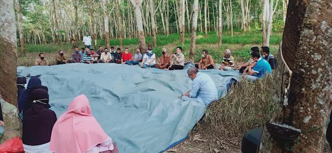 al haris dialog bersama petani karet muaro jambi