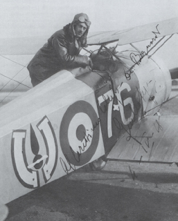 Giulio Lega with the Hanriot HD1 in which he scored his five aerial successes