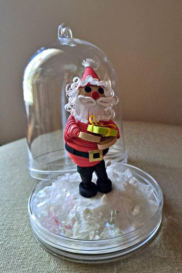 quilled 3D Santa ornament