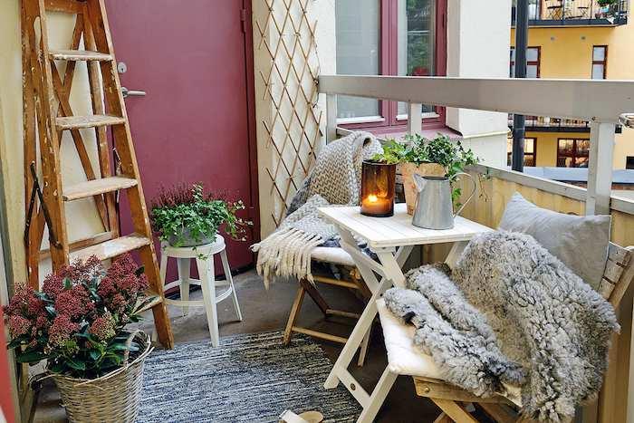 terraza balcón de invierno