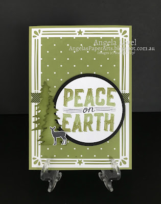 Stampin' Up! Peace on Earth Carols of Christmas card by Angela Lovel, Angela's PaperArts