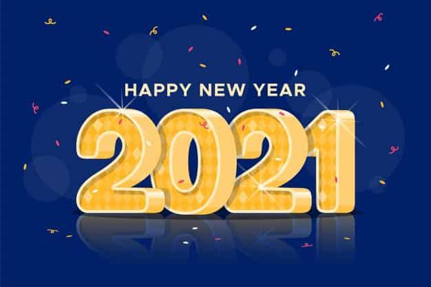 gamabar ucapan selamat hari natal dan tahun baru 2021