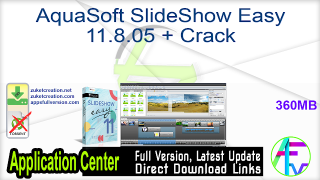 AquaSoft SlideShow Easy 11.8.05 + Crack