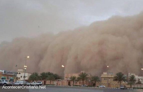 Tormenta de arena en Arabia Saudita