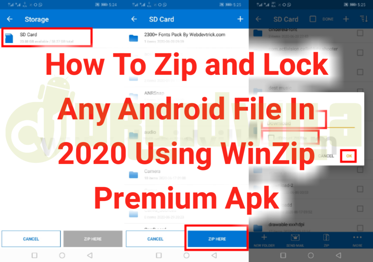 Zip and encrypt files