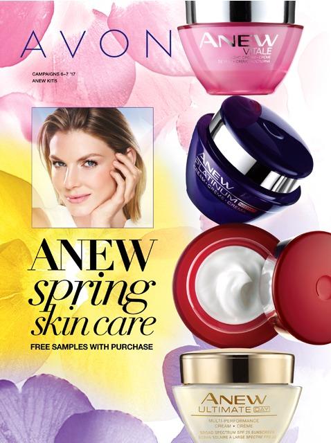 Avon Anew Spring Skincare Campaign 6 - 7 2017 Catalog Online MoxieMavenBeauty.com