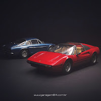 Ferrari 308 (Revell) e Renault Alpine (Tamiya) 1/24