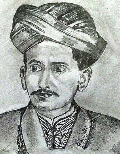 PENCIL DRAWING - M. Visvesvaraya