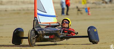 Eric Houvenaghel champion de france char à voile Plume Kart 5.60