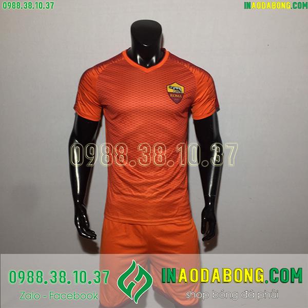 Áo bóng đá câu lạc bộ AS Roma 2020 màu cam
