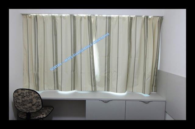 CORTINA; costura; decoração de quarto; faça você mesmo; CORTINA COM TECIDO BLACKOUT (corta-luz); trilho max; cortina com trilho