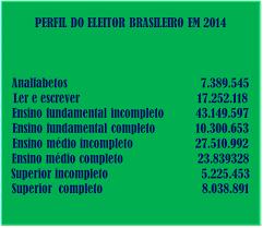 Perfil do eleitor brasileiro em 2014.