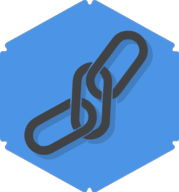 link hexagon icon