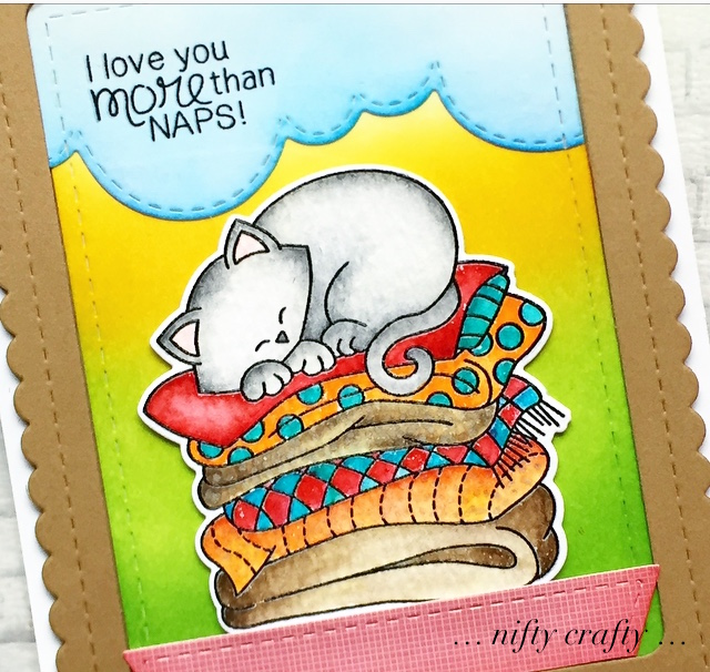 More than Naps Card by February Guest Designer Valliam | Newton's Naptime Stamp Set and die set by Newton's Nook Designs #newtonsnook #handmade