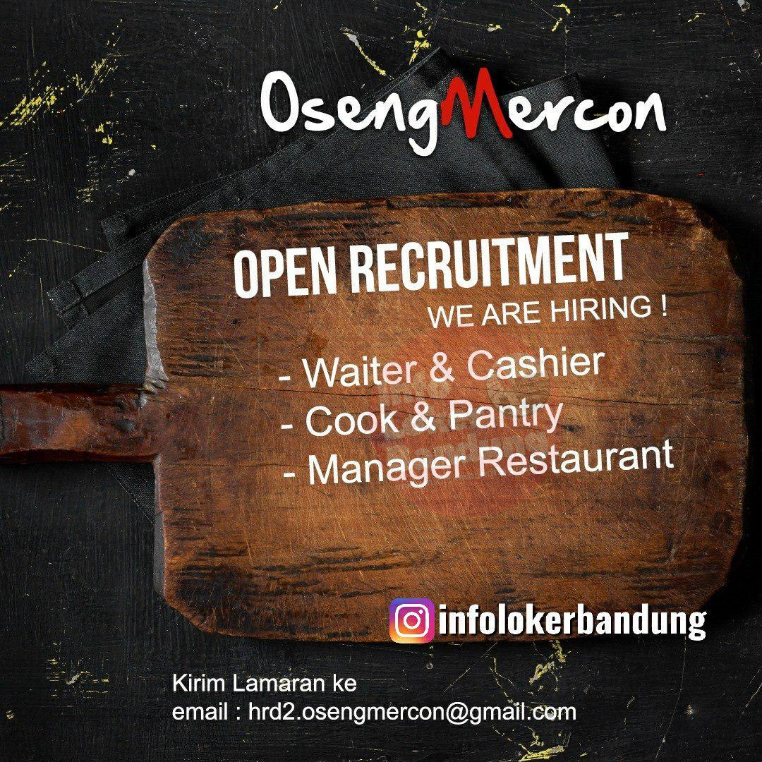Lowongan Kerja Oseng Mercon Bandung Juli 2019