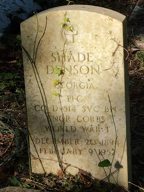 Shade Denson from Georgia WW1 Veteran Headstone Grave at the Pinehurst Cemetery in St. Augustine, Florida