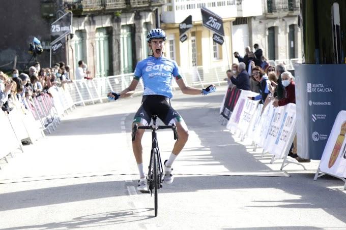 Fernando Tercero, logró la victoria de etapa y es el nuevo líder de la Volta a Galicia