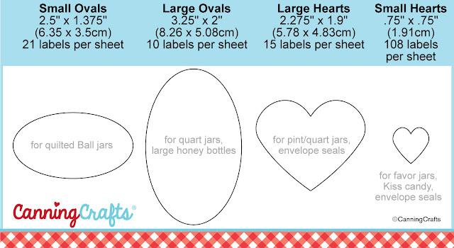 Canning Jar Label Size Chart   CanningCrafts.com