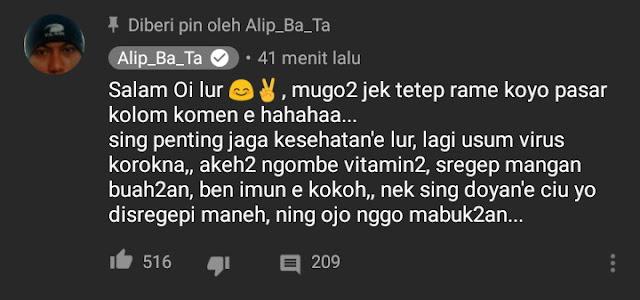 Komentar alip_ba_ta tentang komentarnya yang pernah ditutup
