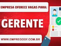 Emprego para Gerente com salário de R$ 1.400,00