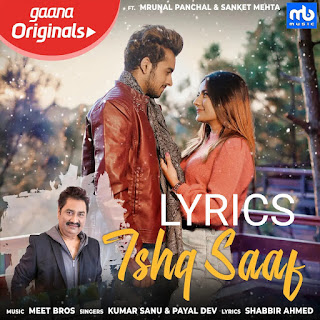 Ishq Saaf Lyrics - Payal Dev Indian Pop [2019]
