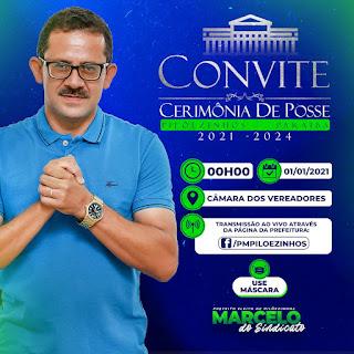 Confira como será programação de posse do prefeito Marcelo Matias e vereadores da cidade de Pilõezinhos PB